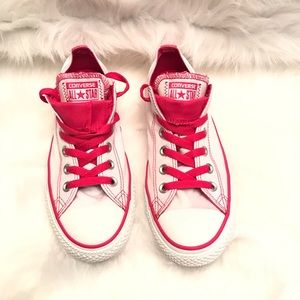 Women's converse pink/white size 9